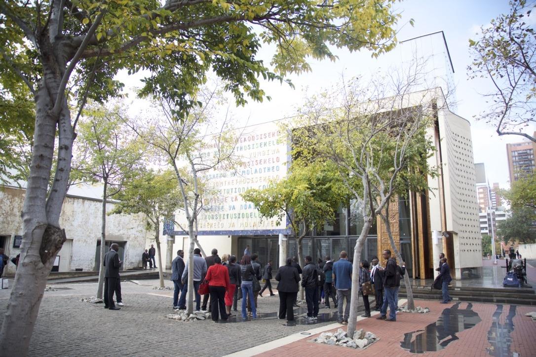 Constitution Hill: <p>The Constitutional Court.</p>