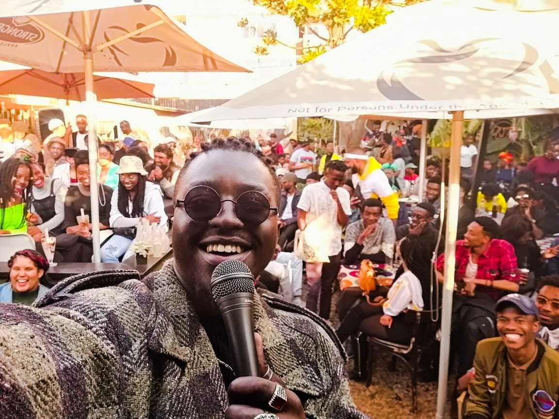 """Constitution Hill: Hector """"Xquizit"""" Mgiba at the World of Words Poetry Picnic"""