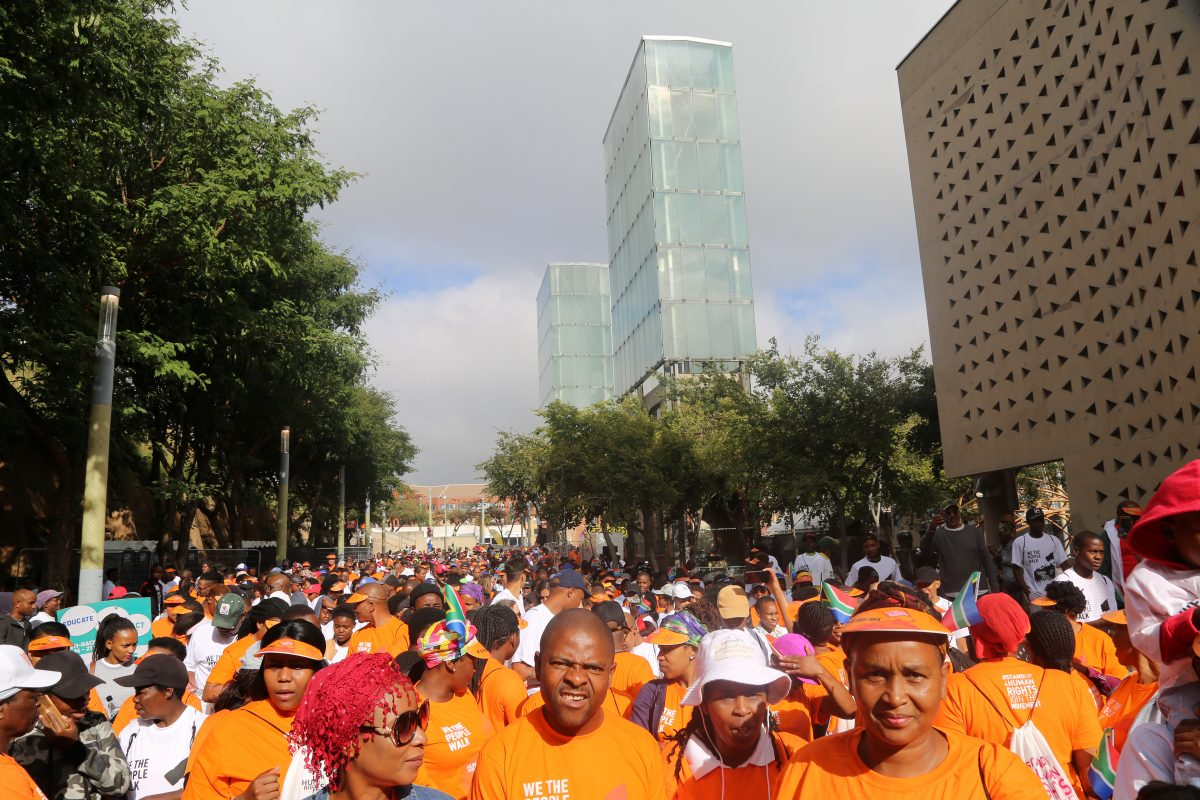 Constitution Hill: Walkers gather at the start of the 2019 edition of the We The People Walk at Constitution Hill.