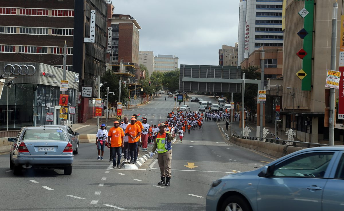 Constitution Hill: The walk was well organised, with loads of marshals and police assisting the walkers.