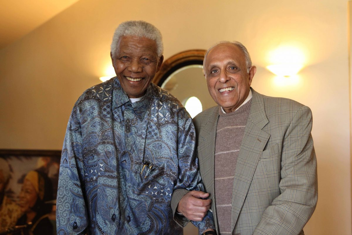 Constitution Hill: Late former president Nelson Mandela with his close friend, Ahmed Kathrada, who died on 28 March 2017.