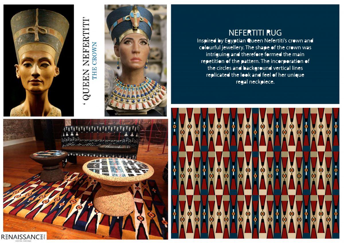 Constitution Hill: Nefertiti Rug-Renaissance Desig