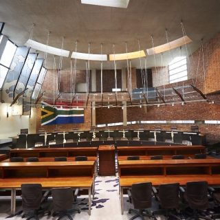 Constitution Hill: Constitutional Court chamber