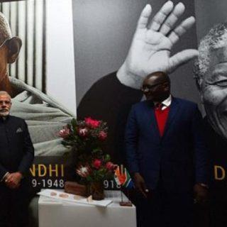Constitution Hill:  <em>Mandela Ghandi</em> opening