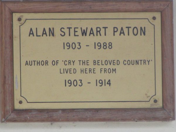 Constitution Hill: The commemorative plaque at Alan Paton's childhood home in Pietermaritzburg