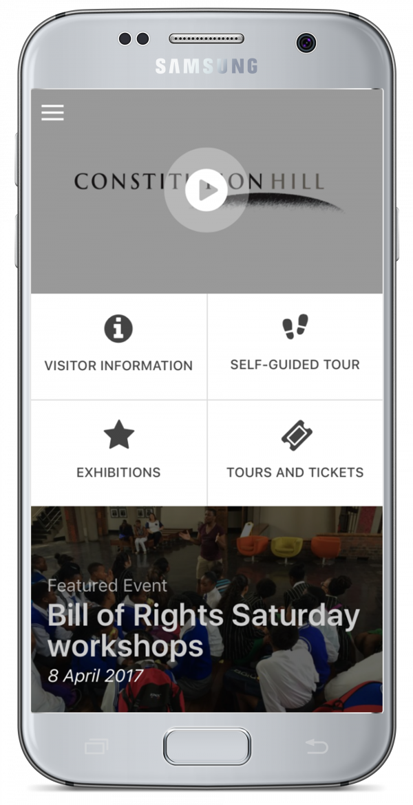 Constitution Hill: Constitution Hill introduced a mobile application as part of its digital-first strategy, which includes a participation-friendly website.
