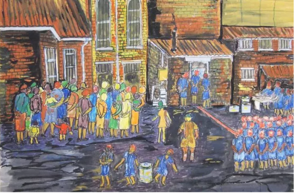 Constitution Hill: Painting by Fatima Meer