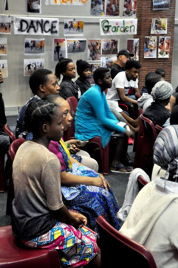 Constitution Hill: Refugees tell their stories at a Refugee Social Services event aimed at building solidarity between young South Africans and refugees.