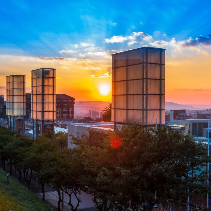 Constitution Hill: Awaiting Trial Block sunset