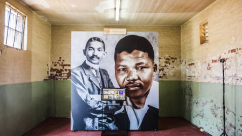 Constitution Hill: The exhibition highlights the similarities between Mandela and Gandhi