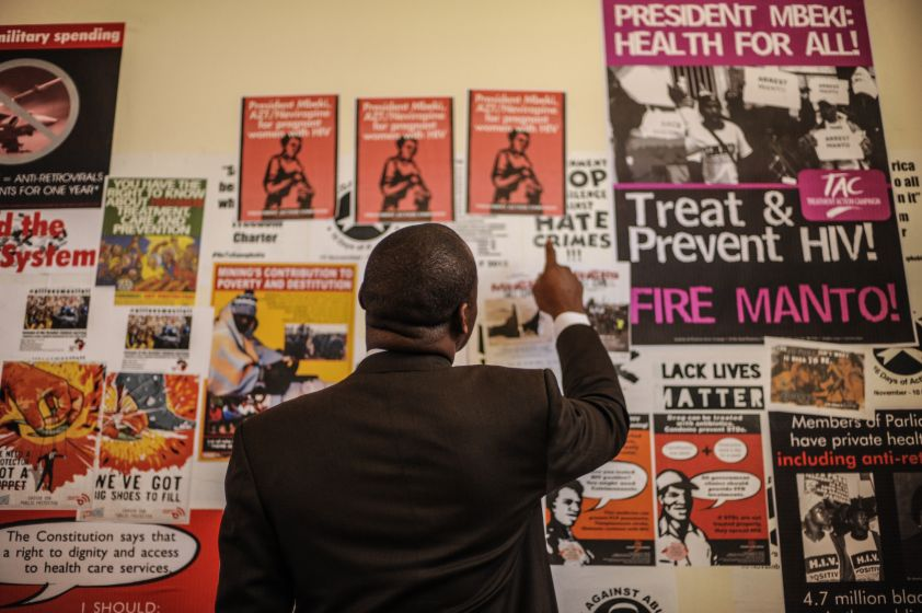 Constitution Hill: The display features 39 posters